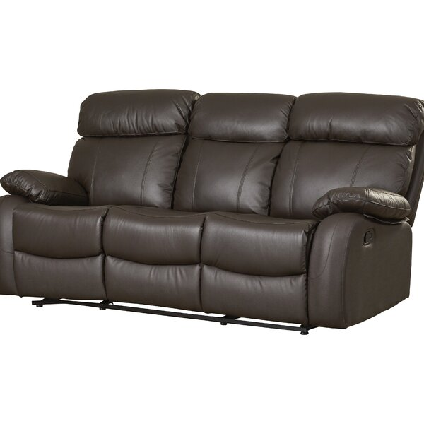 Teena Leather Reclining Sofa By Red Barrel Studio