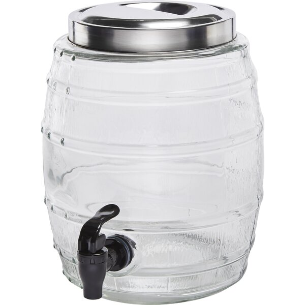 Micro Barrel 1.3 Gal Beverage Dispenser by Circle Glass