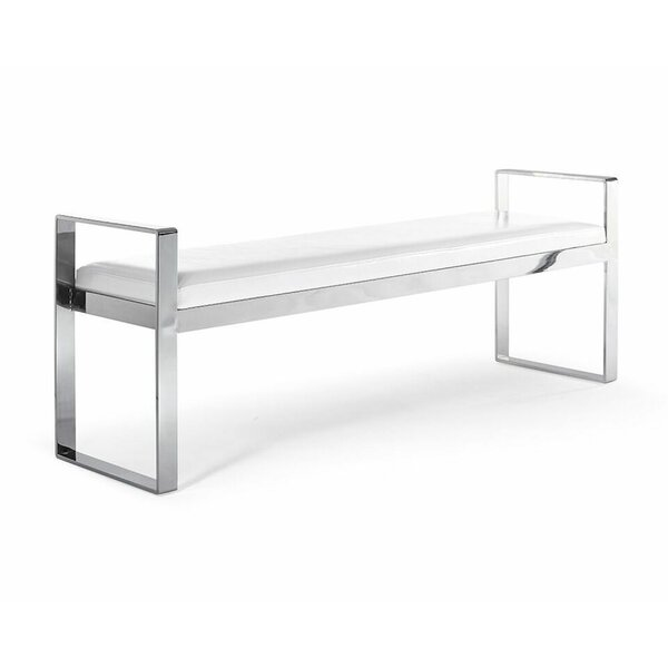Treshon Faux Leather Bench by Orren Ellis