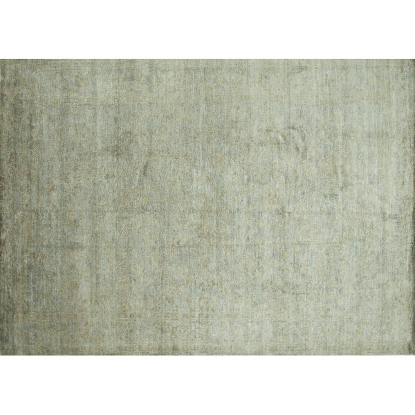 Leffel Hand-Knotted Limestone Area Rug by Rosdorf Park