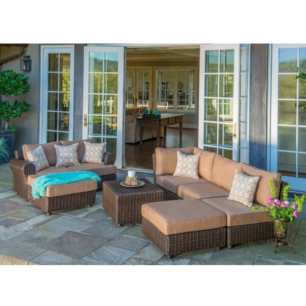 Maryvonne 8 Piece Sunbrella Sectional Seating Group with Cushions by Red Barrel Studio