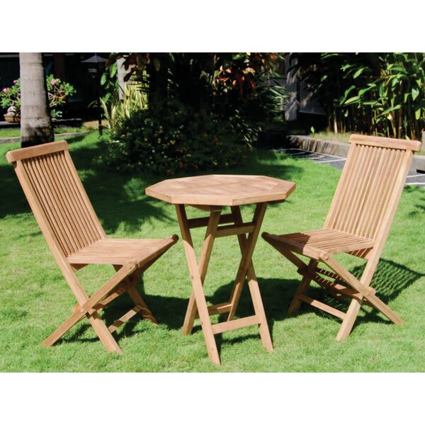 Vineyard 3 Piece Teak Dining Set by Bamboo54