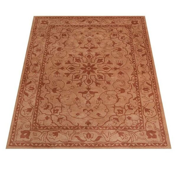 Rackers Oriental Hand-Tufted Wool Orange Area Rug by World Menagerie