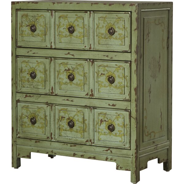Callisburg 3 Drawer Apothecary Accent Chest by Bungalow Rose Bungalow Rose