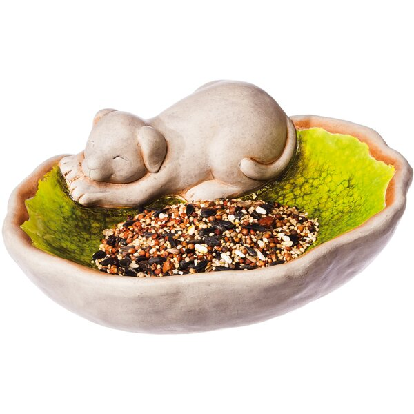 Dreaming Dog Decorative Tray Bird Feeder by Evergreen Enterprises, Inc