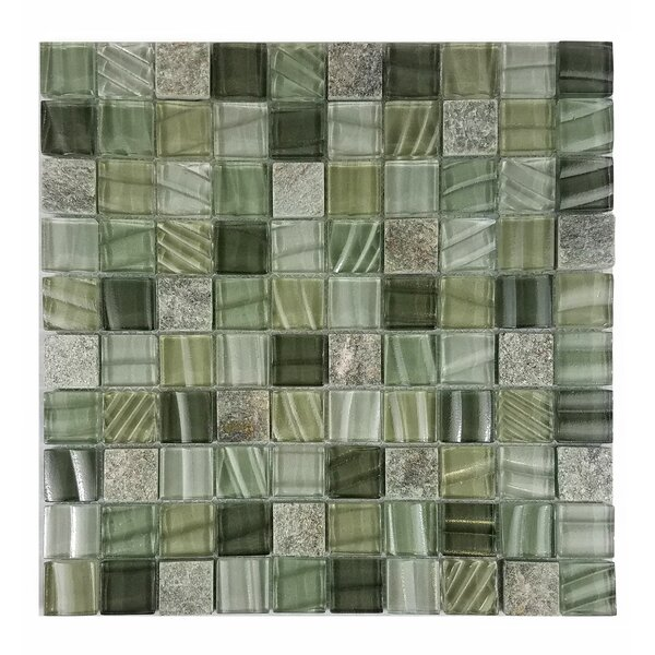 New Era II 1.25 x 1.25 Glass Mosaic Tile in Pickel by Abolos