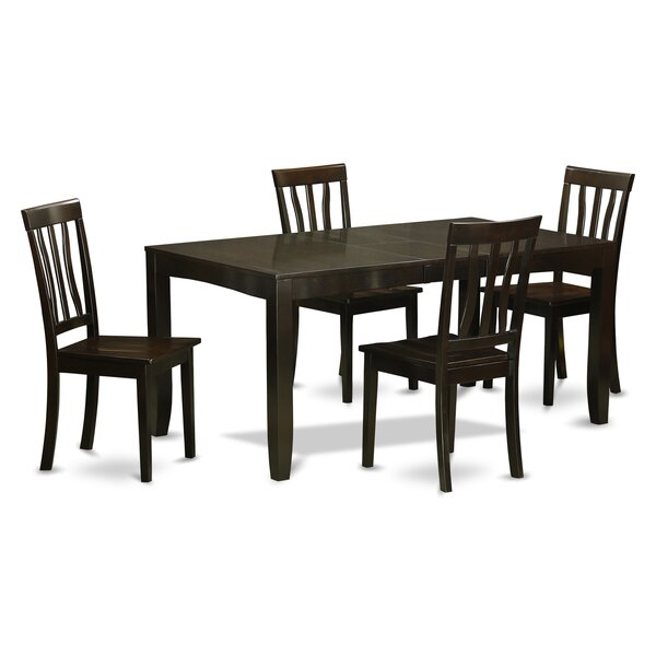 Lockmoor 5 Piece Dining Set by Red Barrel Studio