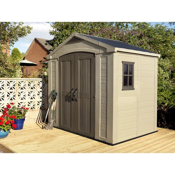 Factor 8 ft. 5 in. W x 6 ft. D Plastic Storage Shed by Keter