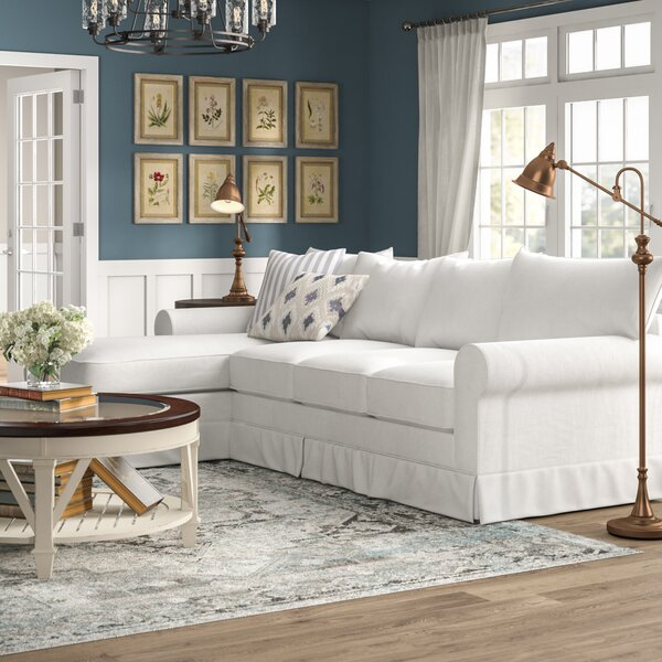 Review Jameson Upholstered Sleeper Sectional