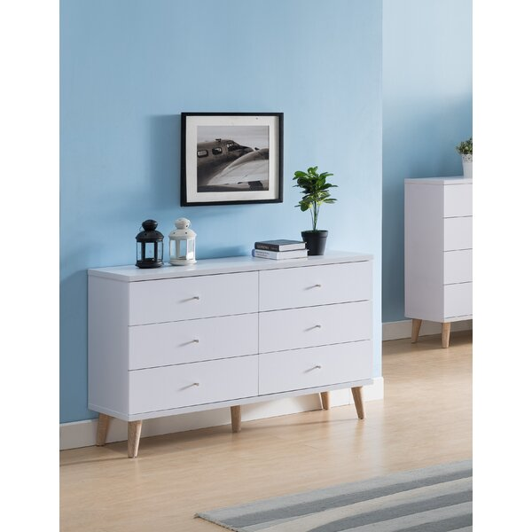 Great price Bowles 6 Drawer Double Dresser By Trule Teen Great Reviews