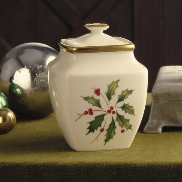 Holiday Sugar Bowl with Lid by Lenox