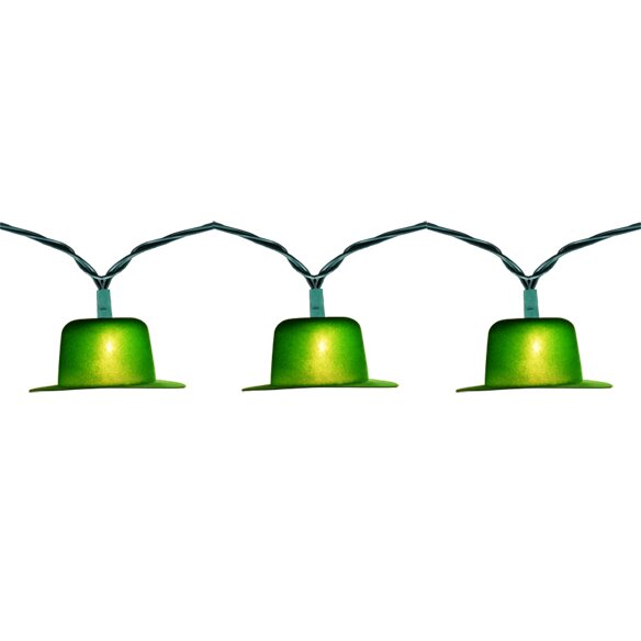 10 Light Flocked Derby String Light by Penn Distributing