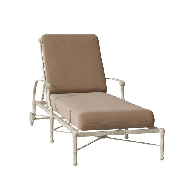 Delphi Reclining Chaise Lounge with Cushion