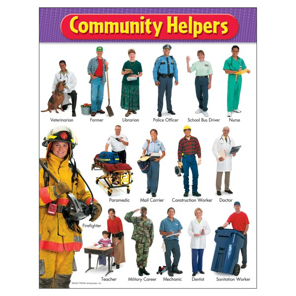 Community Helpers Chart by Trend Enterprises