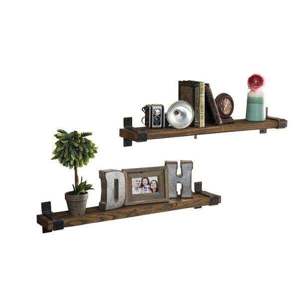 Jeterson Industrial Grace Wall Shelf (Set of 2) by