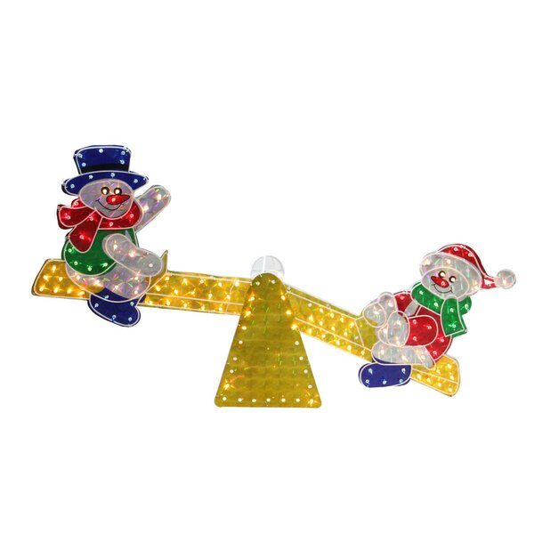 Holographic Snowmen on See Saw Christmas Lighting Display by The Holiday Aisle