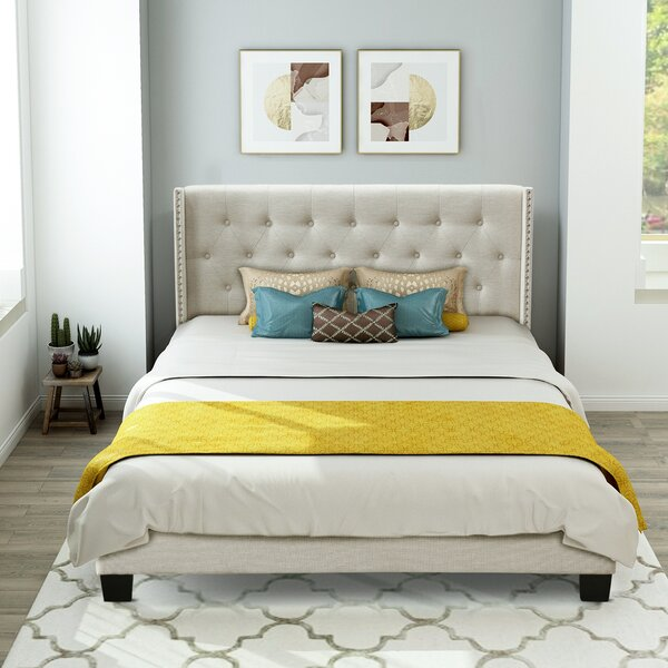 Lundquist Queen Tufted Low Profile Standard Bed by Alcott Hill Alcott Hill