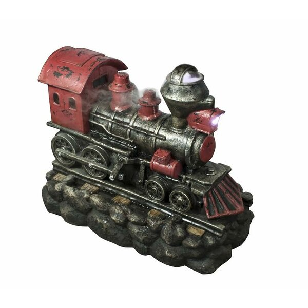 Fiberglass/Resin Vintage Locomotive Train Fountain with LED Light by Northlight Seasonal