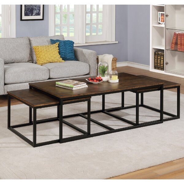 Hensley 3 Piece Coffee Table and Nesting Tables Set by Gracie Oaks Gracie Oaks