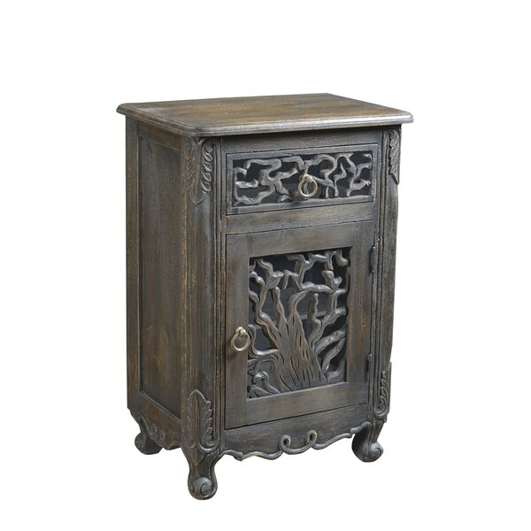 Halina 1 Drawer Nightstand by Bungalow Rose