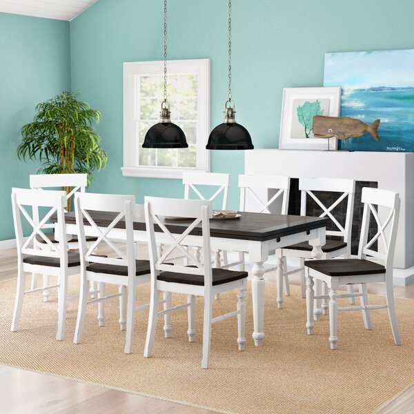 Mulford 9 Piece Extendable Dining Set by Beachcrest Home