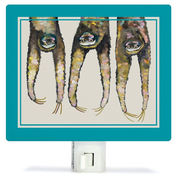 Sloths Hanging Out Canvas Night Light by Oopsy Daisy