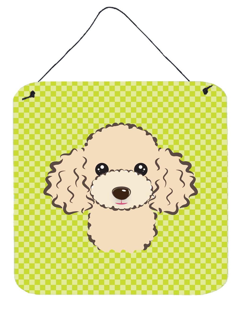 Caroline\'s Treasures Checkerboard Buff Poodle by Denny Knight Wall ...