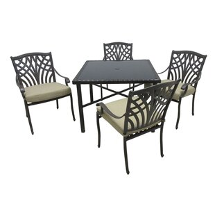 Boulevard 5 Piece Dining Set with Cushions By Darby Home Co