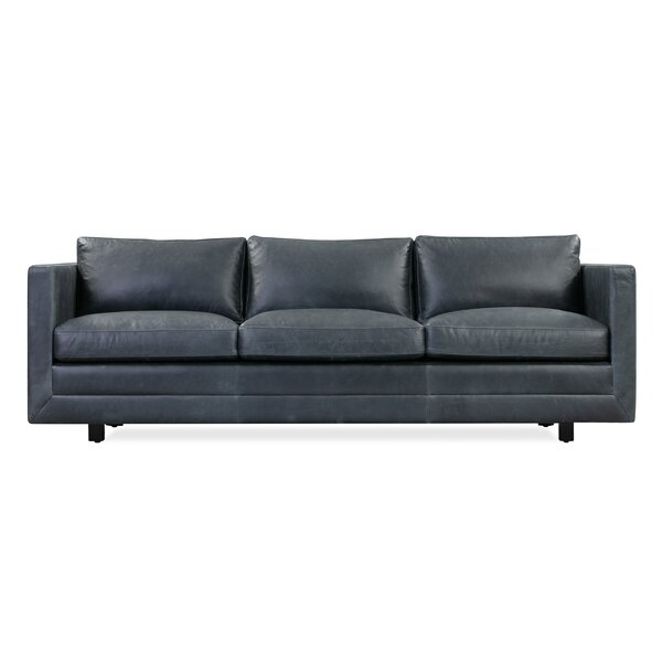 Hortense Leather Sofa By Ivy Bronx
