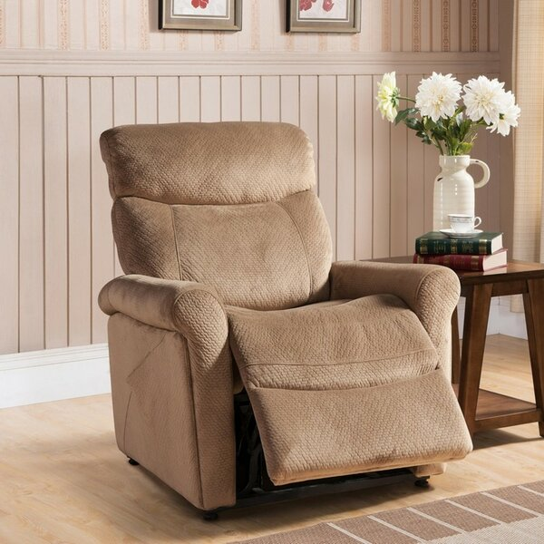 Morrisania Leather Power Recliner by Red Barrel Studio Red Barrel Studio
