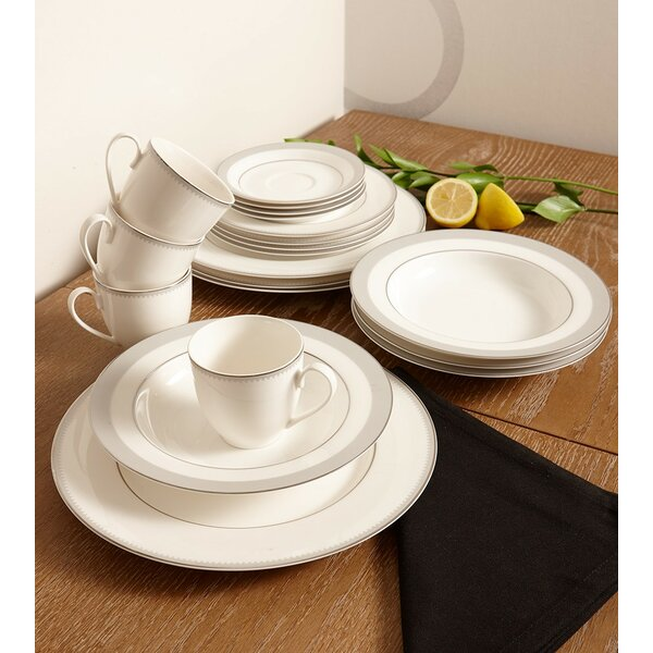 Crenelle Bone China 20 Piece Dinnerware Set, Service for 4 by Flato Home Products