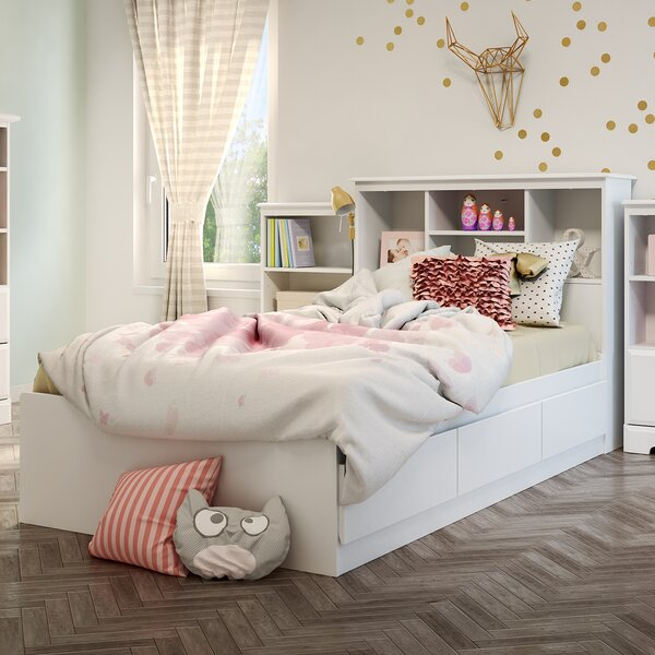 Callesto Mates Twin Platform Bed with Drawers by South Shore