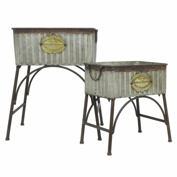 Galvanized Metal Raised Garden Set (Set of 2) by Three Hands