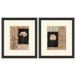 Night Florescence Framed 2 Piece Graphic Art Print Set by PTM