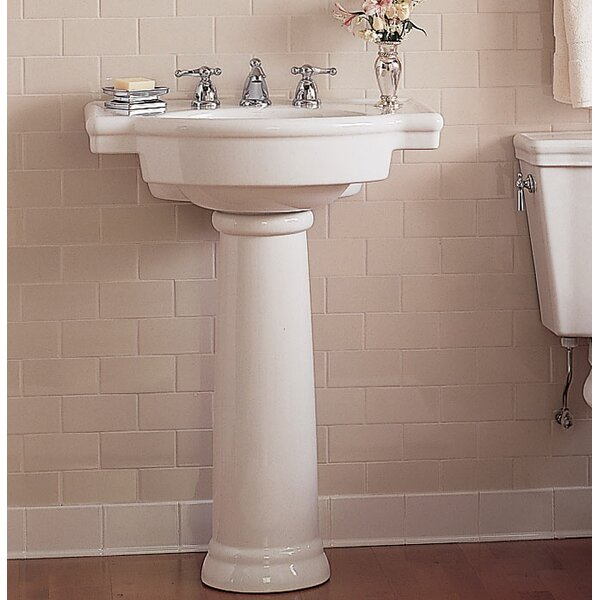 Retrospect Ceramic 27 Pedestal Bathroom Sink with