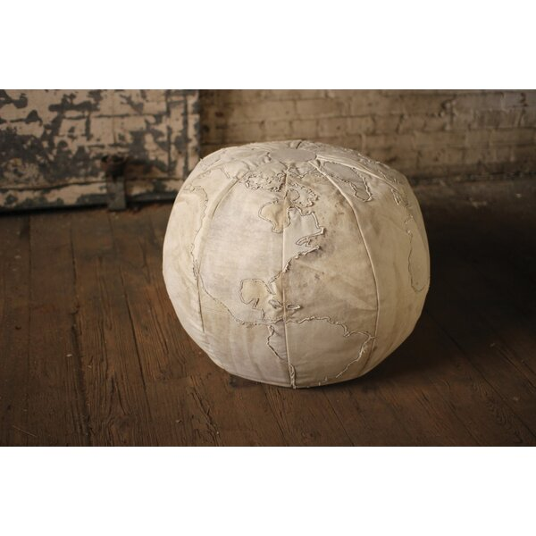 Bayaud Recycled Canvas Globe Pouf Ottoman by Williston Forge