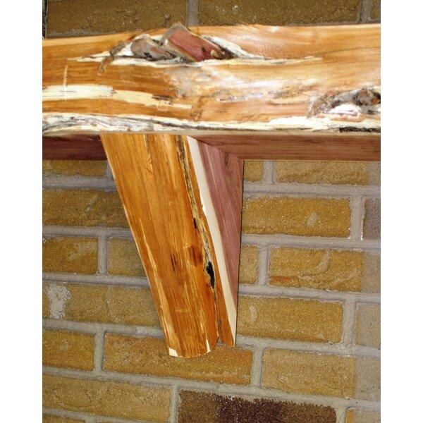 Fireplace Mantel Natural Corbel in Cedar (Set of 2) by Kettle Moraine Hardwoods