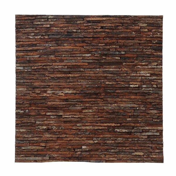 Artistica Gaia Stone 16.54 x 16.54 Mahogany Bark Hand-Painted Tile by Ecotessa