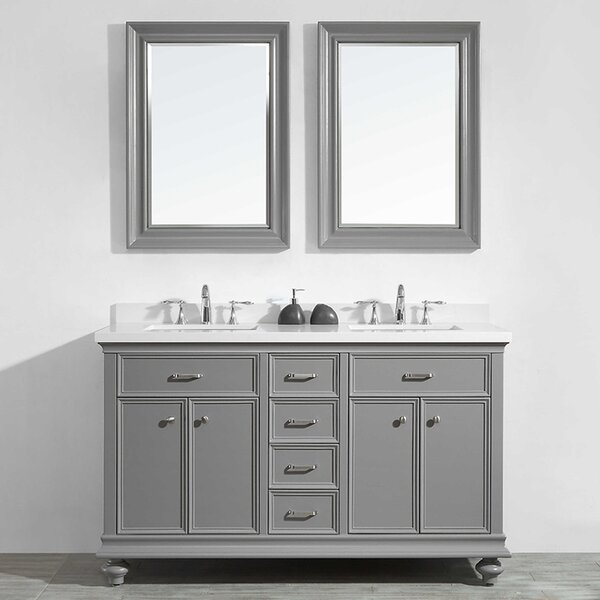 Weisner 60 Bathroom Vanity Set with Mirror by Alcott Hill