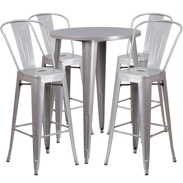 Bowdon 5 Piece Bar Height Dining Set by Latitude Run