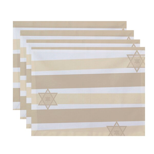 Star Stripes Stripe Print Placemat (Set of 4) by The Holiday Aisle