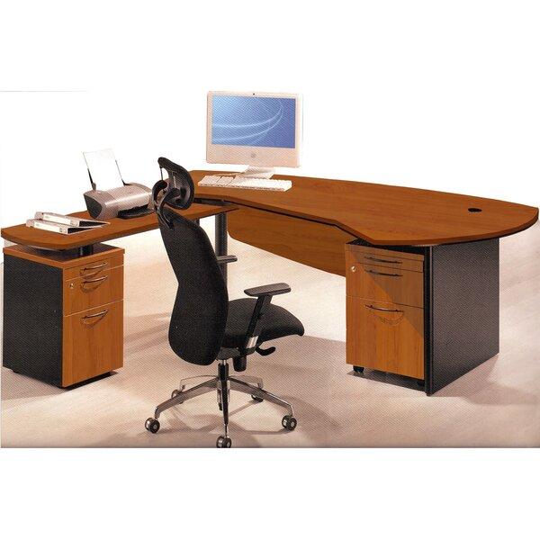 Executive Management Office 3 Piece Left Desk and Filing Set by OfisELITE