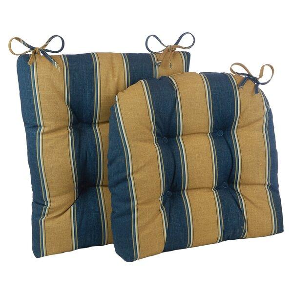 2 Piece Stripe Porch Indoor/Outdoor Rocking Chair Cushion Set by Winston Porter