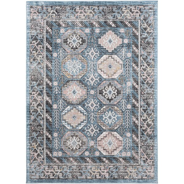 Madeley Distressed Aqua/Beige Area Rug by Charlton Home