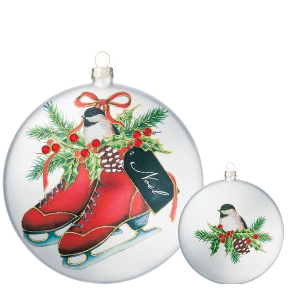 Skate with Tag Disc Ornament (Set of 6) by The Holiday Aisle