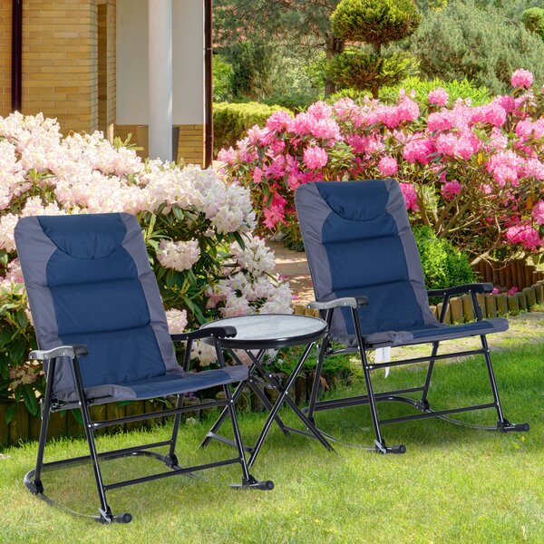 Short Outdoor 3 Piece Conversation Set by Freeport Park