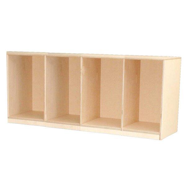 1 Tier 4 Wide Preschool Locker by Wood Designs