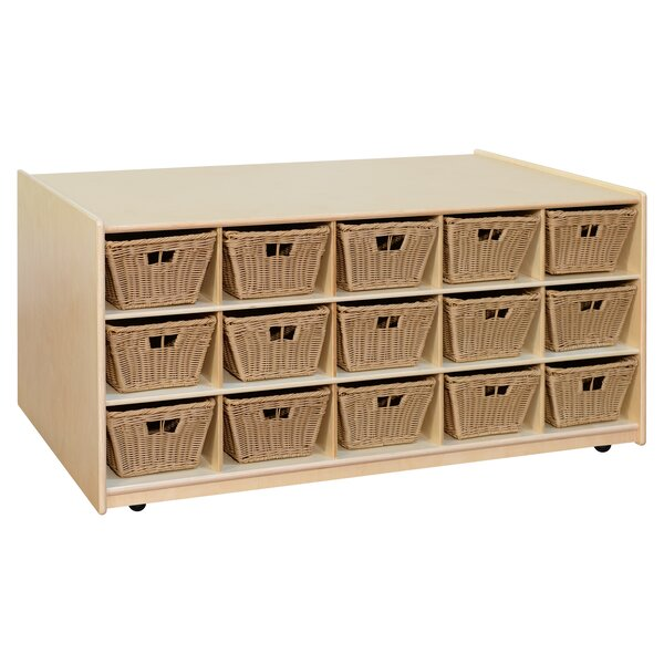 Tot-Size Double Sided 30 Compartment Cubby with Bins by Wood Designs