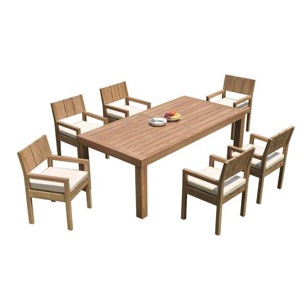 Deonte 7 Piece Teak Dining Set