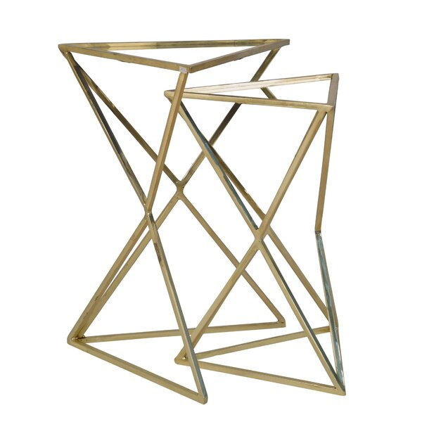 Gelmen 2 Piece Nesting Table by Mercer41
